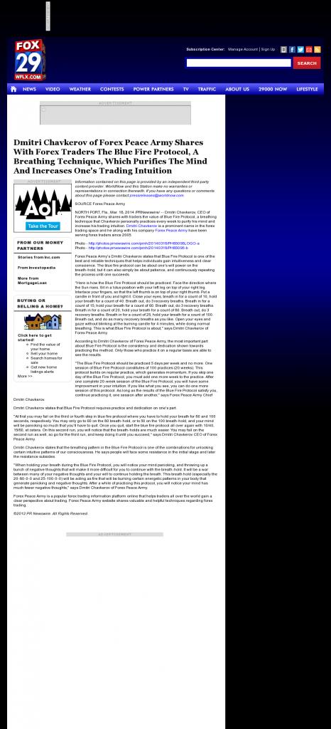Dmitri Chavkerov - Add Blue Fire Protocol to your Trader Toolbox - WFLX FOX-29 (West Palm Beach, FL)