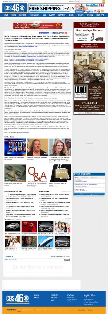 Dmitri Chavkerov - Add Blue Fire Protocol to your Trader Toolbox - WGCL-TV CBS-46 (Atlanta, GA)