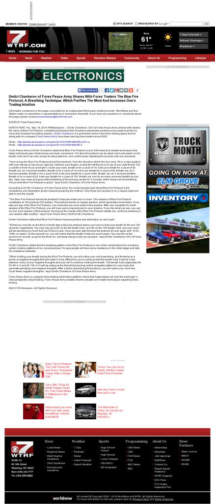 Dmitri Chavkerov - Add Blue Fire Protocol to your Trader Toolbox - WTRF-TV CBS-7 (Wheeling, WV)