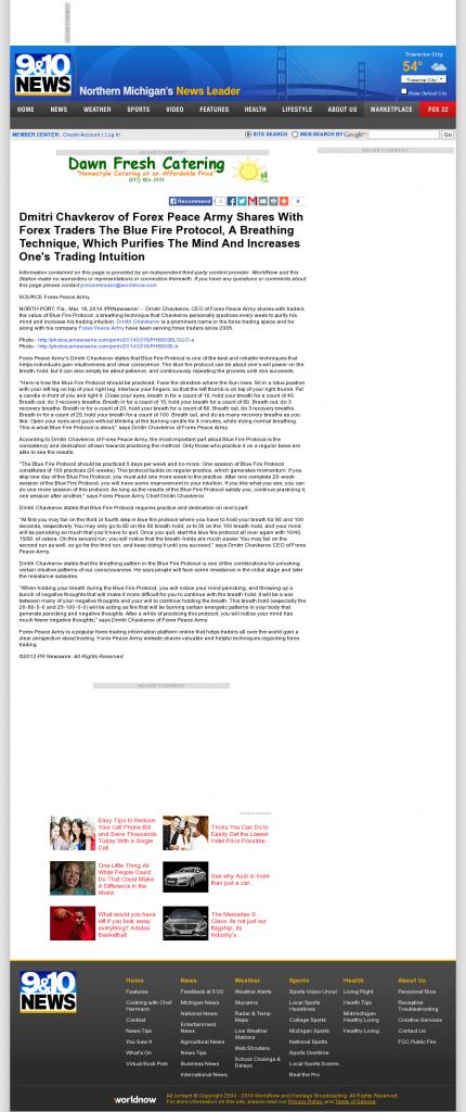 Dmitri Chavkerov - Add Blue Fire Protocol to your Trader Toolbox - WWTV-TV CBS-9 (Cadillac, MI)