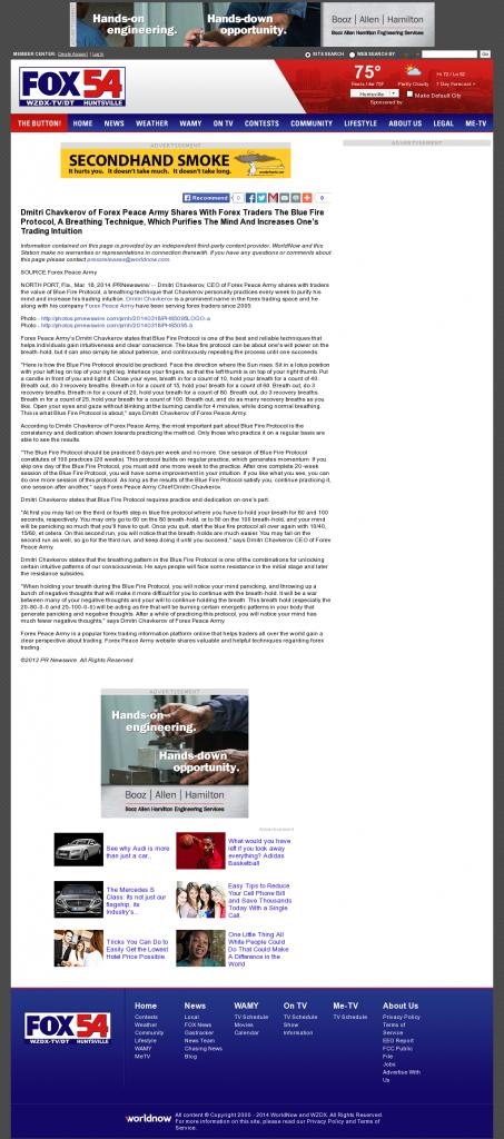 Dmitri Chavkerov - Add Blue Fire Protocol to your Trader Toolbox - WZDX-TV FOX-54 (Huntsville, AL)