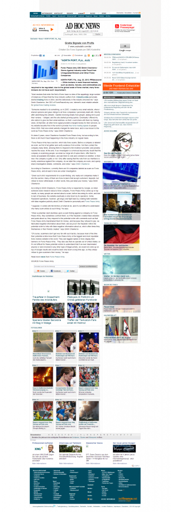 Forex Peace Army - AD HOC NEWS