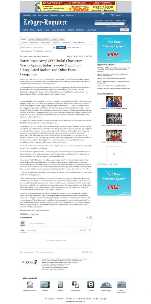 Forex Peace Army - Columbus Ledger-Enquirer (Columbus, GA)