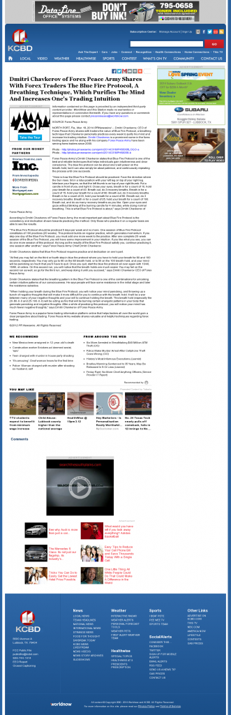 Dmitri Chavkerov - Add Blue Fire Protocol to your Trader Toolbox - KCBD NBC-11 (Lubbock, TX)