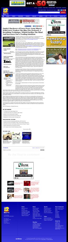 Dmitri Chavkerov - Add Blue Fire Protocol to your Trader Toolbox - KFVS CBS-12 (Cape Girardeau, MO)