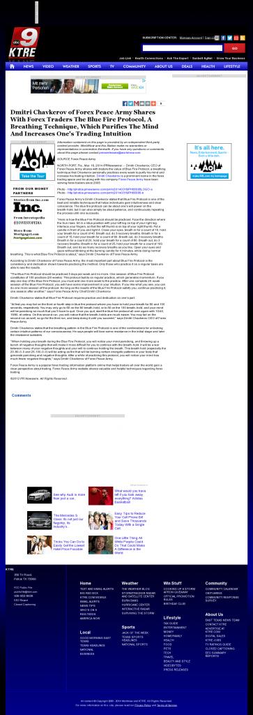Dmitri Chavkerov - Add Blue Fire Protocol to your Trader Toolbox - KTRE ABC-9 (Lufkin, TX)