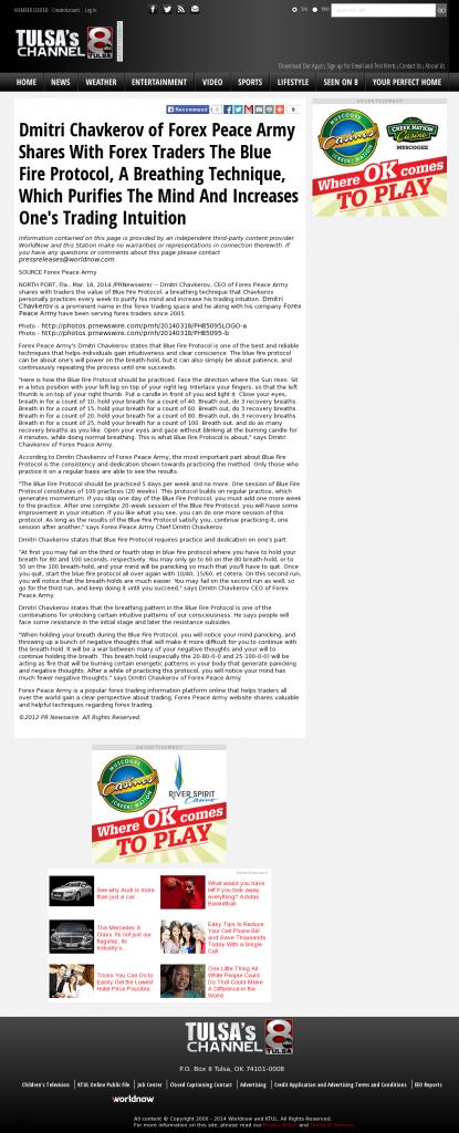 Dmitri Chavkerov - Add Blue Fire Protocol to your Trader Toolbox - KTUL-TV ABC-8 (Tulsa, OK)