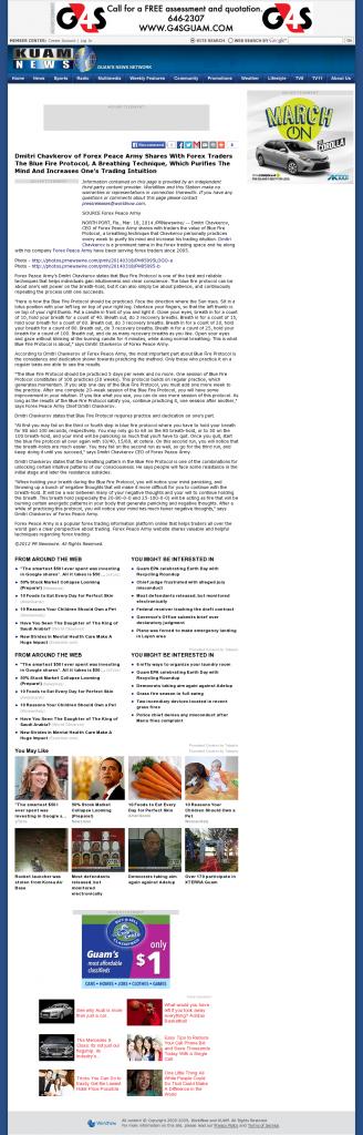 Dmitri Chavkerov - Add Blue Fire Protocol to your Trader Toolbox - KUAM-TV NBC-8 / CBS-11 (Hagatna, Guam)