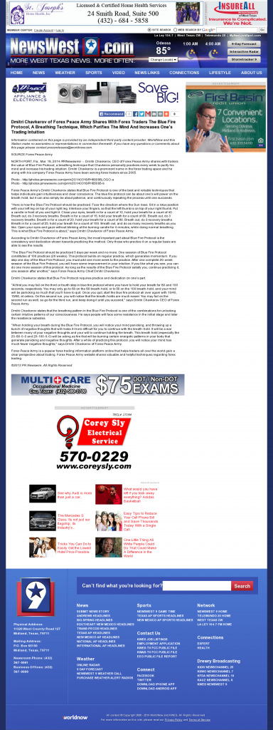 Dmitri Chavkerov - Add Blue Fire Protocol to your Trader Toolbox - KWES-TV NBC-9 (Midland, TX)
