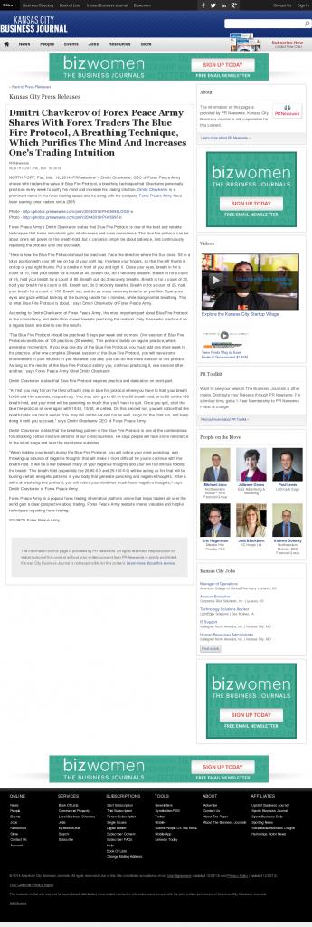 Dmitri Chavkerov - Add Blue Fire Protocol to your Trader Toolbox - Kansas City Business Journal