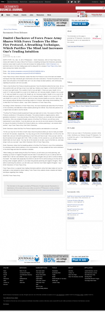 Dmitri Chavkerov - Add Blue Fire Protocol to your Trader Toolbox - Sacramento Business Journal