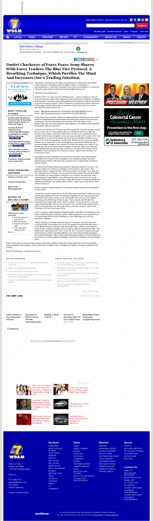Dmitri Chavkerov - Add Blue Fire Protocol to your Trader Toolbox - WDAM NBC-7 (Hattiesburg-Laurel, MS)