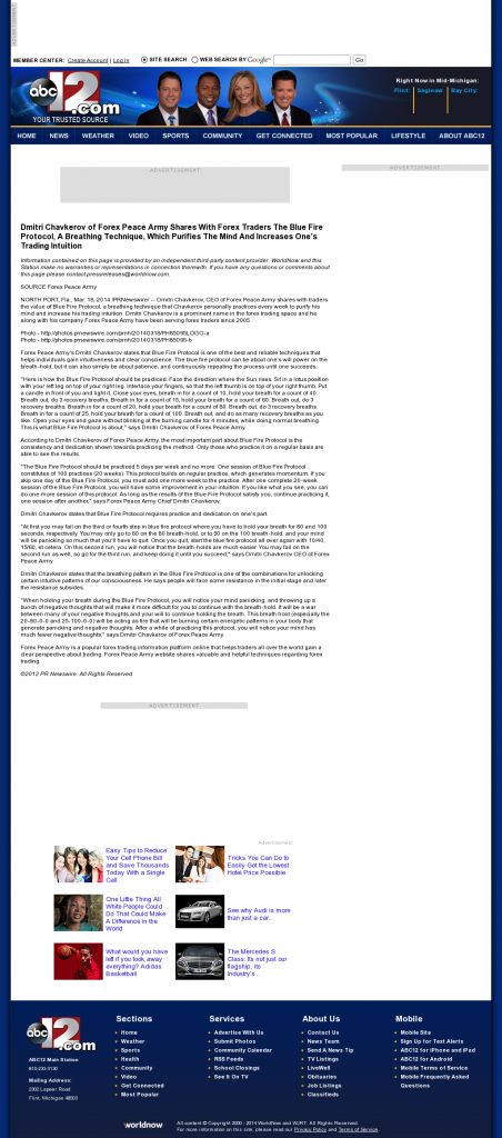 Dmitri Chavkerov - Add Blue Fire Protocol to your Trader Toolbox - WJRT-TV ABC-12 (Flint, MI)