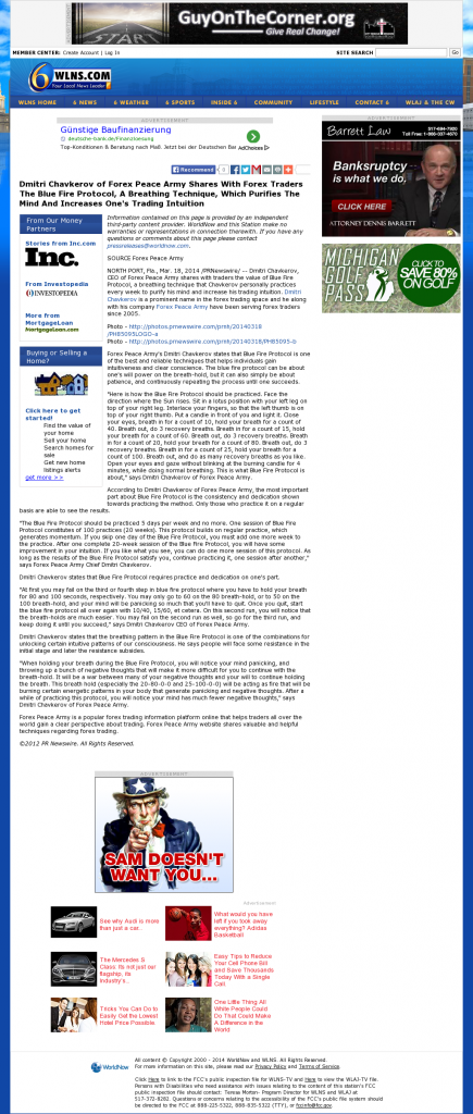 Dmitri Chavkerov - Add Blue Fire Protocol to your Trader Toolbox - WLNS CBS-6 (Lansing, MI)