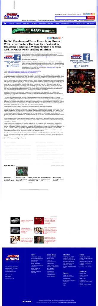 Dmitri Chavkerov - Add Blue Fire Protocol to your Trader Toolbox - WMBF NBC-32 (Myrtle Beach, SC)