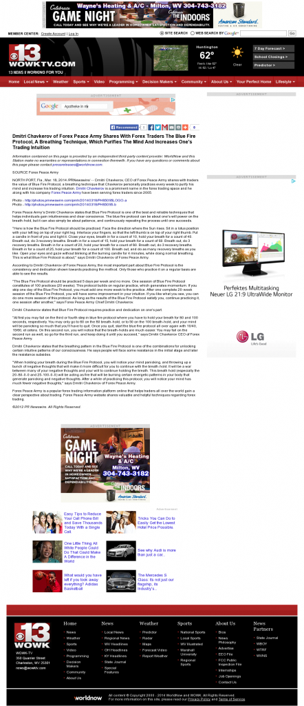 Dmitri Chavkerov - Add Blue Fire Protocol to your Trader Toolbox - WOWK-TV CBS 13 (Huntington, WV)