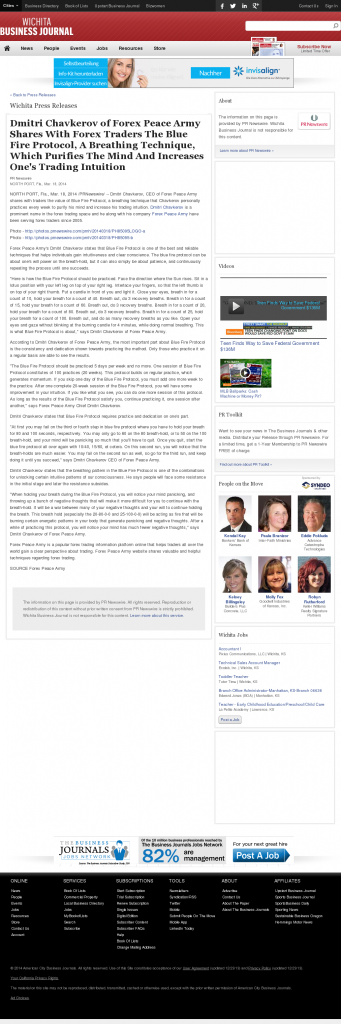 Dmitri Chavkerov - Add Blue Fire Protocol to your Trader Toolbox - Wichita Business Journal