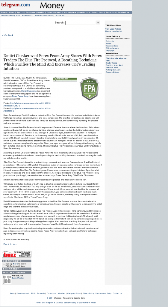 Dmitri Chavkerov - Add Blue Fire Protocol to your Trader Toolbox - Worcester Telegram & Gazette